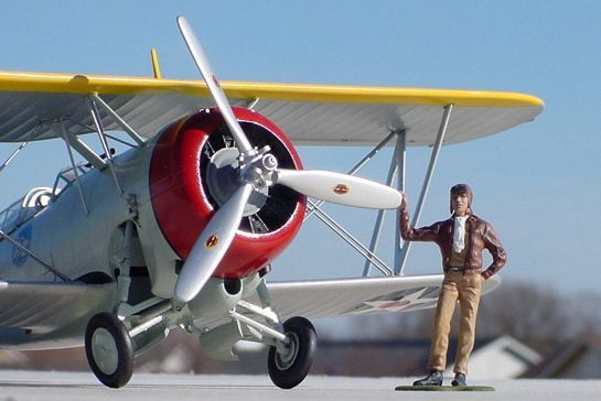 Fastest Plane In The World >> Monogram's 1/32 Grumman F3F-3 | Large Scale Planes