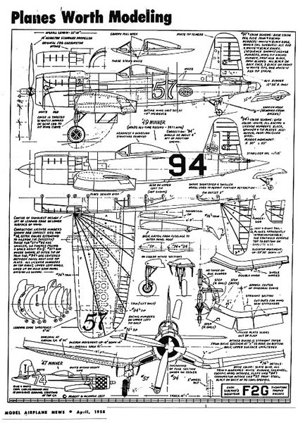 F4u Corsair Drawings