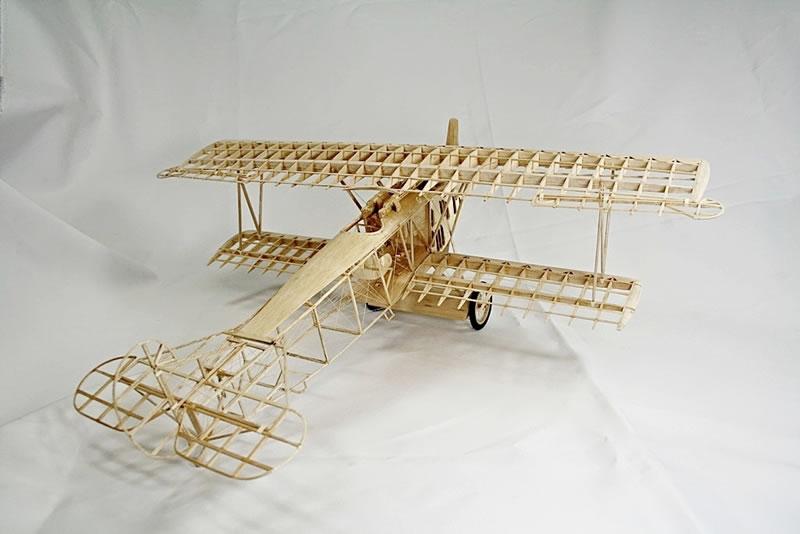 Scratch Built 1 16 Fokker Dvii Wooden Skeleton Large