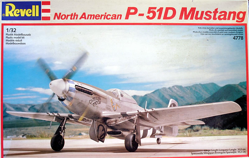Revell-Germany North American P-51D Mustang   Large Scale Planes