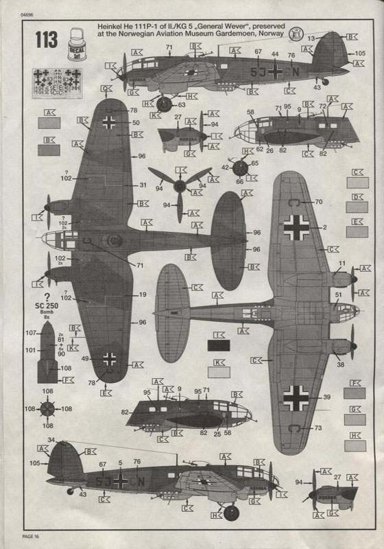 Revell-Germany Heinkel He 111P | Large Scale Planes