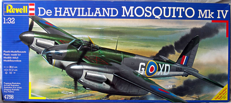 Revell First Released A 1 32 Scale Mosquito Kit In 1971 It Has Been Re Several Times Since Then Most Recently 2016 But Remains The Same