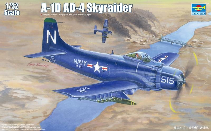 Trumpeter 1//32 02254 A-1J AD-7 Skyraider