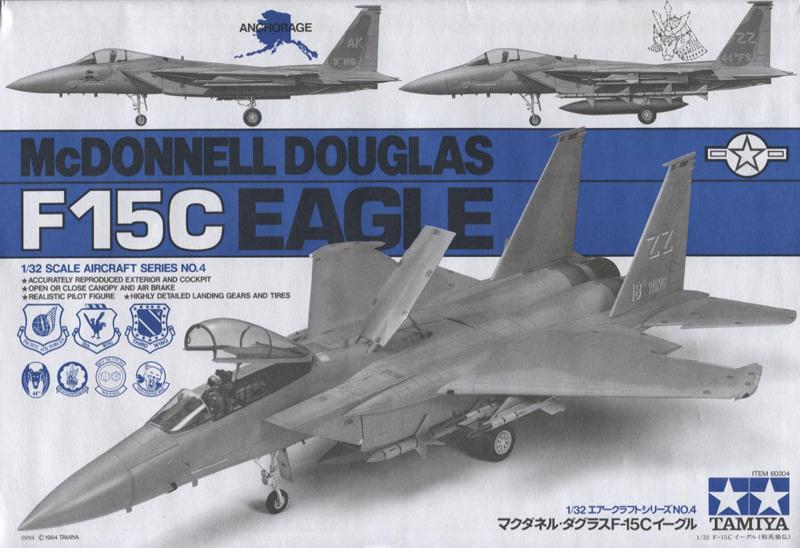Tamiya 1//32 Aircraft Series No.04 US Air Force McDonnell Douglas F15C Eagle Kit
