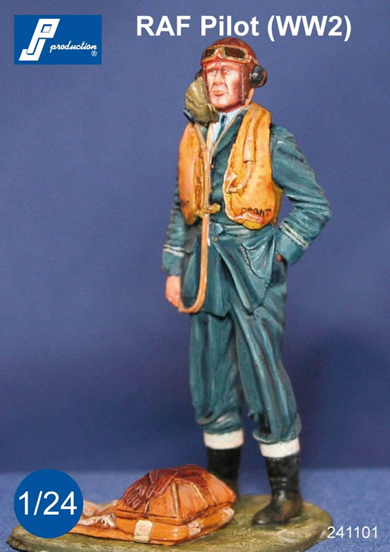 New 1 24 Raf Pilot Figure From Pj Production Industry