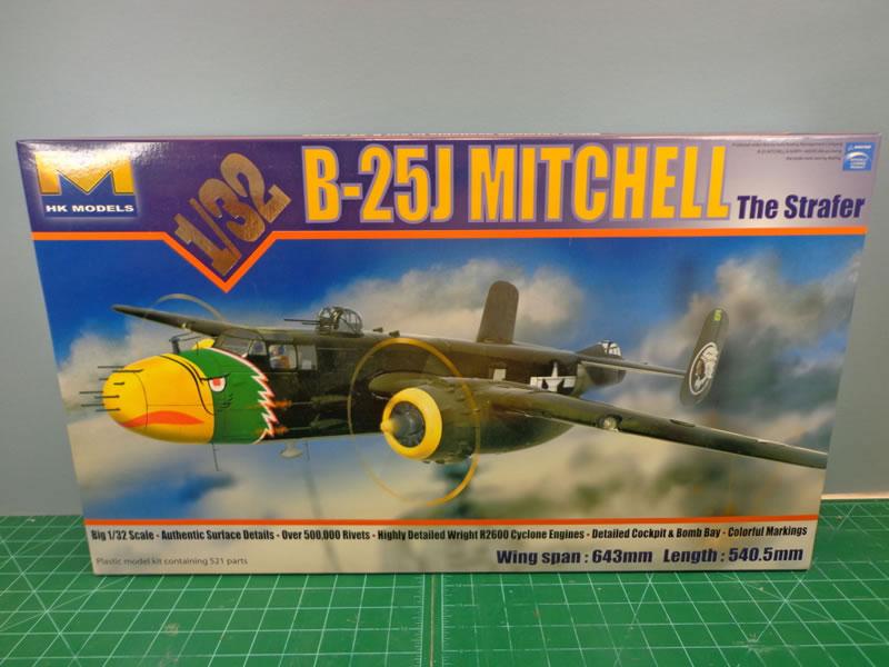 """HK Models 1/32 B-25J """"Strafer""""   Large Scale Planes"""