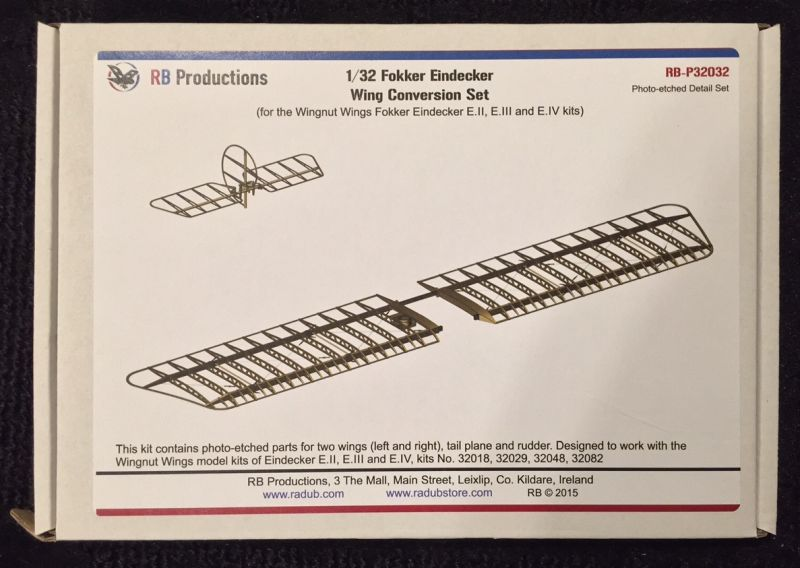 RB Productions 1/32 Fokker Eindecker Wing Conversion Set for