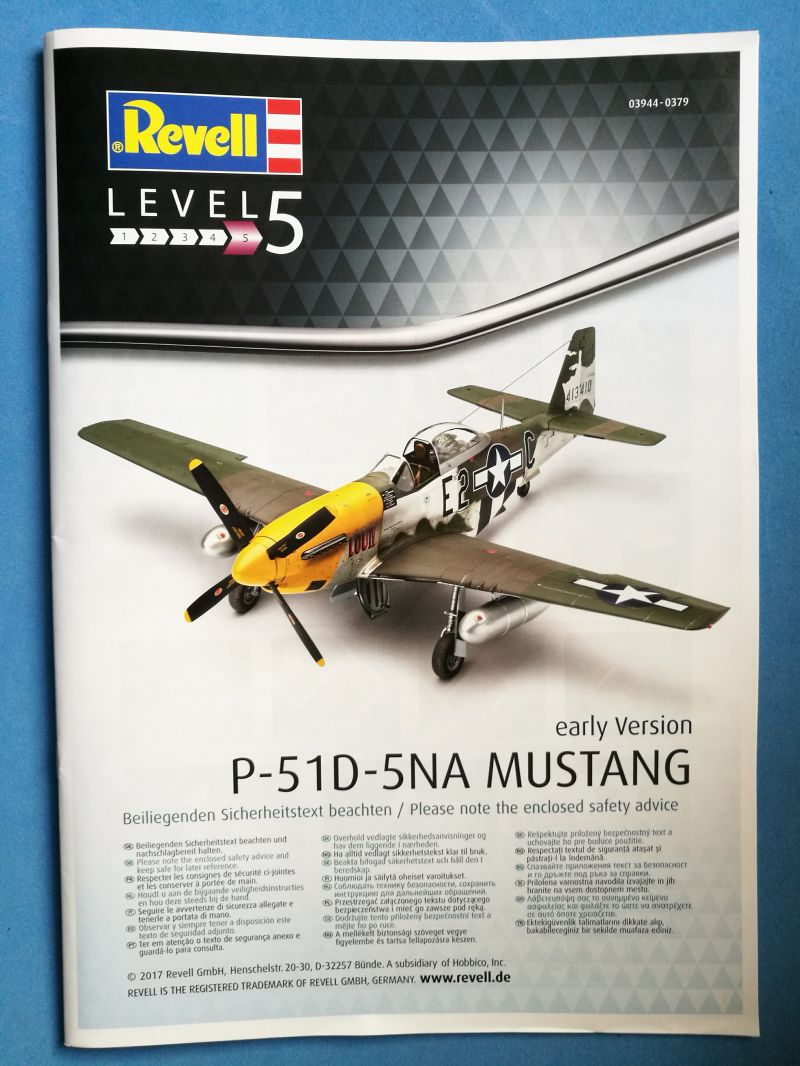 Revell 03944: P-51D-5NA Mustang Early Version | Large Scale Planes