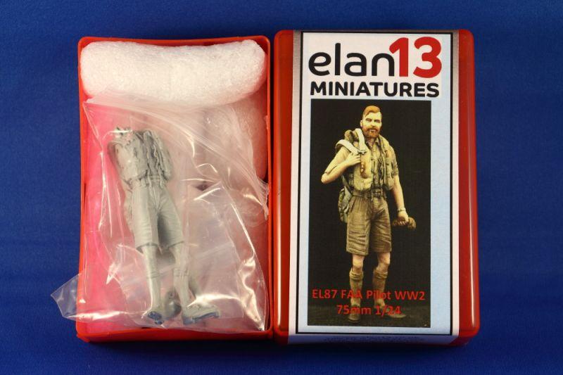 Elan13 Miniatures EL87 FAA Pilot WW2 75mm 1/24 | Large Scale Planes