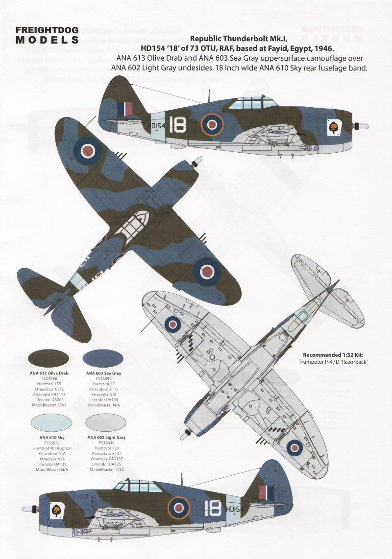 Freightdog Models FSD32001: P-47D Thunderbolts | Large ...