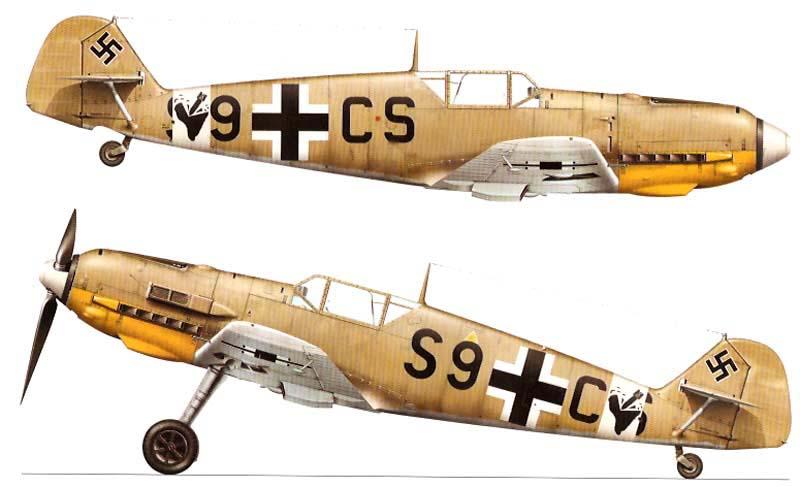 Kagero Mini Top Colors 21 - Messerschmitt Bf 109 in North ...